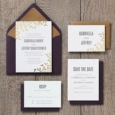 make these foil stamped leaves wedding invitations your own at paper source - Paper Source Wedding Invitations
