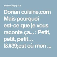 Dorian cuisine.com Mais pourquoi est-ce que je vous raconte ça... : Petit, petit, petit… l'est où mon poulet ! Fricassée de poulet à la bière, aux pommes de terre et aux cèpes