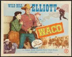 WACO (1952) - Wild Bill Elliott - Pamela Blake - Stanford Jolley - Rand Brooks - Directed by Vincent M. Fennelly - Monogram Pictures - Half Sheet Movie Poster
