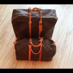 Louis Vuitton luggage 2 pieces of gorgeous authentic Louis Vuitton luggage.  Aged to perfection for 12 years.  Great condition. Suitcase and duffle bag- serial numbers available.  Will sell seperatley- if so please make an offer Louis Vuitton Bags Travel Bags Louis Vuitton Luggage, Louis Vuitton Monogram, Aged To Perfection, Authentic Louis Vuitton, Fashion Tips, Fashion Design, Fashion Trends, Travel Bags, Suitcase