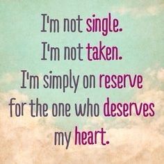 I am not single!
