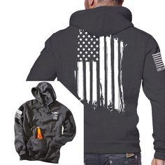 Tailgate Hoodie - America - Full Back - Nine Line Apparel