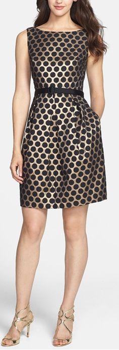 metallic dot dress