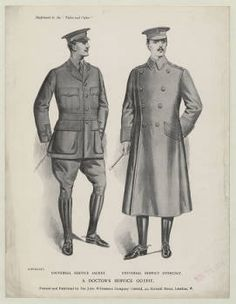 Menswear 1910s- military uniforms, Plate 007 :: Costume Institute Fashion Plates