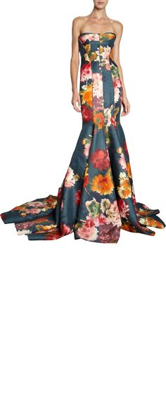 Love this so much, I'm repinning.   J. Mendel Floral Gown
