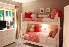 Girl's Bedroom (A Stroll Thru Life) Girls Bedroom, Girls Bunk Beds, Teenage Girl Bedrooms, Little Girl Rooms, Kid Beds, Home Bedroom, Bedroom Decor, Bedroom Furniture, Bedroom Ideas