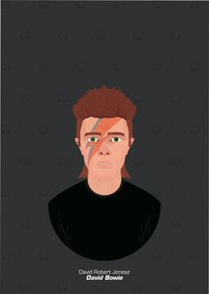 David Bowie, ArtStation at https://www.artstation.com/artwork/e4Xz3