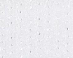 Feine, bestickte Baumwolle, Batist Allover mit Blümchenmuster in Lockstickerei, weiß
