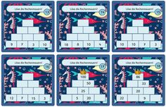 Rechenmauern im maritimen Look Und noch mal ein Material aus dem Werkstatt- Angebot. 22 Karten mit Rechenmauern im Zahlenraum 100 sollen n...