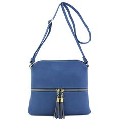 d243174ada Lightweight Medium Crossbody Bag with Tassel (Beige): Handbags: Amazon.com