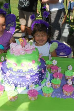 Khloes 3rd birthday Tinkerbell cake