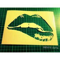 Lips Stencil