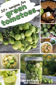 50  Green Tomato Recipes ~ Looking for ways to use garden-fresh green tomatoes beyond fried? Here's every green tomato recipe you could possibly need, from ketchup to jam to cocktails to canning, as well as, bread, chili, pickles, fermented tomatoes. A few fried green tomato recipes too, just for good measure.