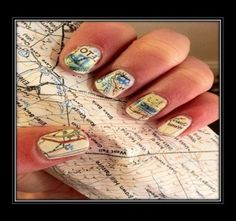 How to do Map #Nail Art