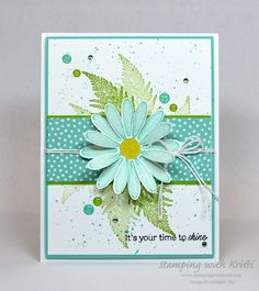 Stampin' Up Daisy Lane for the Happy Inkin'… Handmade Birthday Cards, Greeting Cards Handmade, Birthday Gifts, Daisy Delight Stampin' Up, Stamping Up Cards, Paper Cards, Flower Cards, Creative Cards, Scrapbook Cards