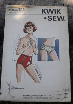 Kwik Sew 723 DIY Girls Panties Underwear High Waisted or Hip Hugger Tweens Size 8 10 12 UNCUT Girly Cute Cute DIY Girls girl Kwik Sew 723 DIY Girls Panties Underwear High Waisted or Hip Hugger Tweens Size 8 10 12 hellip Underwear illustration Kwik Sew, Girly, Airwalk, Girls In Panties, Cute Diys, Bikini Fashion, Women's Fashion, Diy For Girls, Cute Pattern
