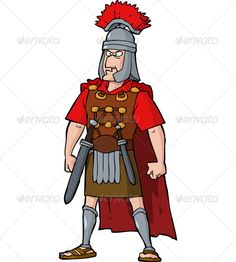 Roman Officer  #GraphicRiver         Roman officer. Isolated object. No transparency or gradients used. JPG and EPS vector files.     Created: 1August13 GraphicsFilesIncluded: JPGImage #VectorEPS Layered: No MinimumAdobeCSVersion: CS Tags: adult #ancient #armor #arms #cartoon #character #commander #fun #helmet #history #human #illustration #isolated #leader #legionary #male #man #men #officer #painting #person #red #roman #sandals #soldier #steel #sword #vector #warrior #weapon