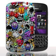 Coque BlackBerry Q10 | Design Graffitis | Coque de protection arriere