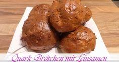 Jeannette's Low Carb Rezepte: Quarkbrötchen mit Leinsamen