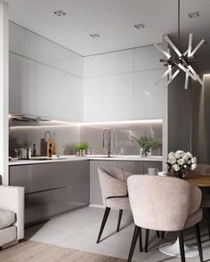 modern kitchen interior Modern Kitchen Cabinets Ideas to Get More Inspiration Dish Kitchen Room Design, Kitchen Cabinet Design, Modern Kitchen Design, Home Decor Kitchen, Interior Design Kitchen, Home Kitchens, Kitchen Ideas, Condo Interior, Grey Kitchens