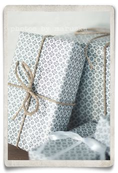 Everyone who I give gifts to will have them wrapped beautifully ♥