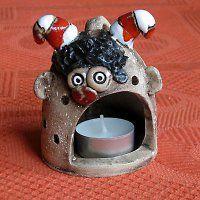 Keramika / Zboží | Fler.cz Ceramic Angels, T Lights, Clay Projects, Clay Art, Ceramic Pottery, Garden Art, Birthday Candles, Art For Kids, Crafty