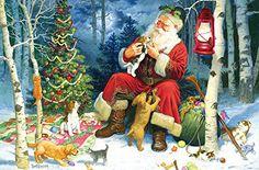 Cobble Hill Santa's Pets Jigsaw Puzzle, 60-Piece  (ages 5+)
