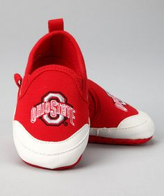 Take a look at this Red Ohio State University Booties - Kids by College Edition on #zulily today!
