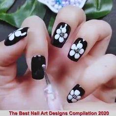 Cute Halloween Nails, Halloween Acrylic Nails, Fall Acrylic Nails, Halloween Nail Designs, Glitter Nails, Best Nail Art Designs, Beautiful Nail Designs, Acrylic Nail Designs, Funky Nails