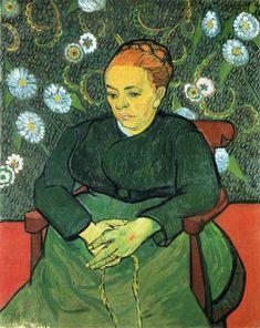 Madame Roulin Rocking the Cradle (A lullaby) Vincent van Gogh Date: 1889; Arles, Bouches-du-Rhône, France Style: Post-Impressionism Genre: portrait Media: oil, canvas Dimensions: 71.5 x 91 cm Location: Stedelijk Museum, Amsterdam, Netherlands