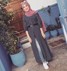 Fashion Hijab Style Outfits Beautiful 32 Ideas Fashion Hijab Style Outfits B Hijab Fashion Summer, Modern Hijab Fashion, Street Hijab Fashion, Islamic Fashion, Muslim Fashion, Modest Fashion, Korean Fashion, Hijab Dress, Hijab Outfit