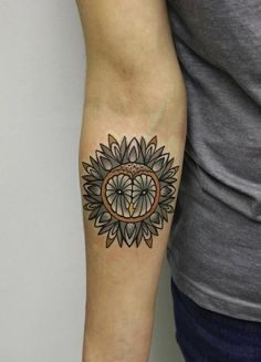 Creatively Detailed Owl Tattoo