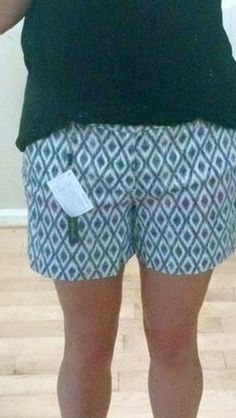 Level 99 Cindie shorts. Cute style, but pattern is more bold than what I'd usually choose.