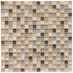 @Overstock.com.com - Update the look of your bathroom with a stylish Mica Stone River wall covering. These tiles feature a mix of grey, tan, brown and cream colors to create a neutral vibe.http://www.overstock.com/Home-Garden/SomerTile-12x12-in-Reflections-Mini-5-8-in-River-Glass-Stone-Mosaic-Tile-Pack-of-10/4211241/product.html?CID=214117 $121.99