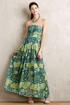 Watercolor Garden Maxi Dress #anthropologie $368 Style No. 4130041952961