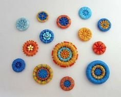 Dorset button samples. I like thes that seem to have double rings.