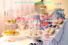 Mesa Dulce Cumpleaños Shabby Chic Vintage Mallorca by Atelier de Tartas y Shiny Happy Parties