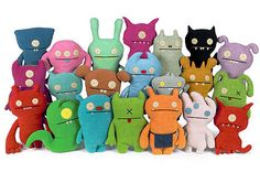 I love Uglydolls. I've had all sorts of adventures with my good friend Tray (first row, second from the right.)