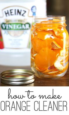 DIY orange cleaner recipe