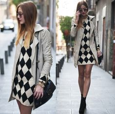 BLACK  BEIGE CHECKED (by Andrea Gomez)