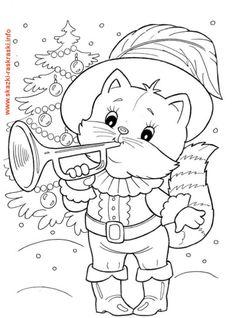 Raskraska Kot S Truboj Owl Coloring Pages Christmas Coloring Pages Free Coloring Pages