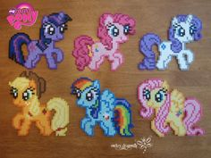 My Little Pony perler beads by RockerDragonfly on deviantart