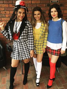 Clueless Outfit Ideas these 120 diy nostalgic costumes will make you feel like a Clueless Outfit Ideas. Here is Clueless Outfit Ideas for you. Clueless Outfit Ideas cher horowitz clueless diy costume idea in 2019 clueless. Disfarces Halloween, Cute Group Halloween Costumes, Cute Costumes, Halloween Cosplay, 90s Costume, Cher Clueless Halloween Costume, Group Of 3 Costumes, Zombie Costumes, Homemade Halloween