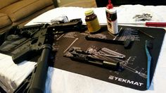just cleaned the #colt #ar15 #rifle and #glock #pistol from #texastactical yesterday. #tactical #gunsense #2ndammendment