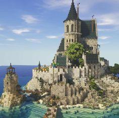 Casa Medieval Minecraft, Minecraft Mansion, Minecraft Cottage, Cute Minecraft Houses, Minecraft City, Minecraft Plans, Minecraft Construction, Amazing Minecraft, Minecraft Blueprints