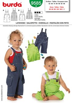 Simplicity : B9585 - Overall patter for George's train engineer costume