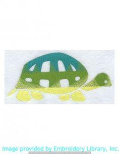 Stickmotiv Stickbild Aufnäher Stickerei Emblem Schildkröte  Schildkröte /  Stickerei Perfect Blend Turtle (F2814)