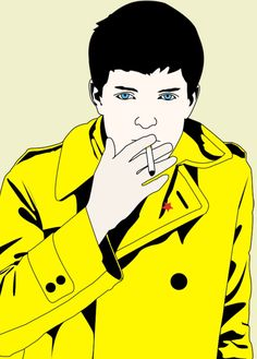 Yes, people, he's back again! The best vocalist and lyricist from the best band in the world, Joy Division. Here is IAN CURTIS!in yellow? Ian Curtis in yellow Joy Division, Ian Curtis, Tortured Soul, Punk, Cool Bands, Raincoat, Goth, Deviantart, Yellow