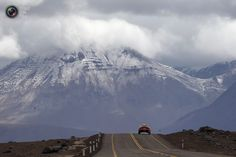 A car passes the highlands of Chile during the untimed 7th stage of the Dakar Rally 2013 from Calama to Salta. IVAN ALVARADO/REUTERS