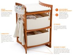 stokke® care™ is a changing table that becomes a desk and a bookshelf and a tv stand - but first and foremost it's a tool to make the nappy changing enjoyable and intimate.